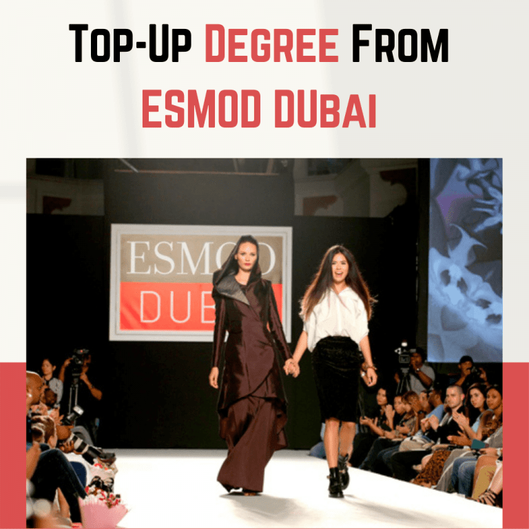 Online fashion designing course degree from esmod dubai